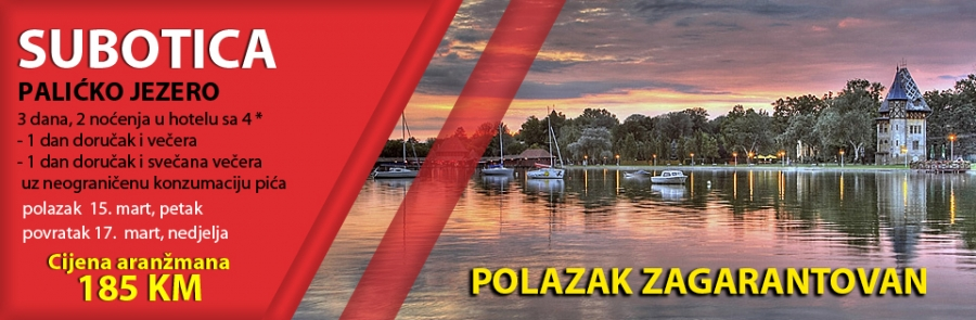 Subotica, Palićko jezero, 15. mart