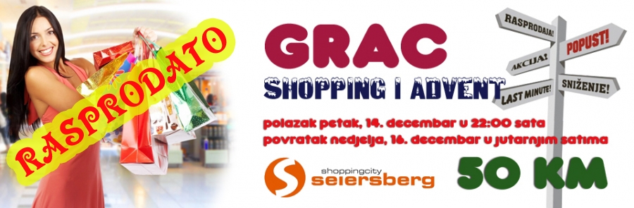 Grac, advent i shopping, 14. decembar